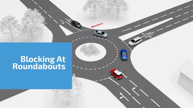 Blockers at roundabouts