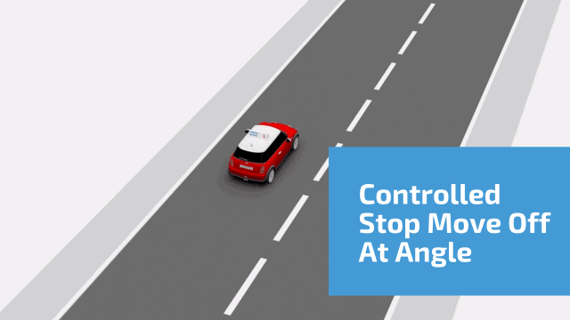 Controlled stop move off at an angle
