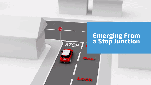 Emerging from a stop junction