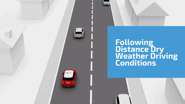 Following distance dry weather driving conditions