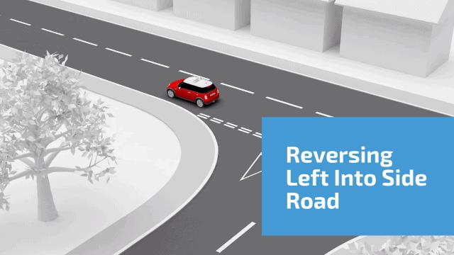Reversing left into side road