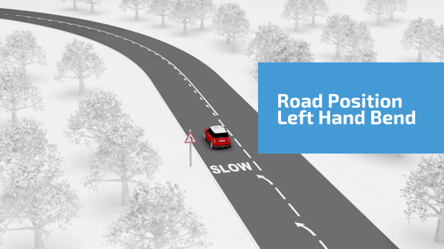 Road position left hand bend