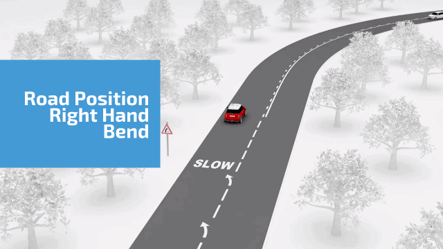 Road position right hand bend