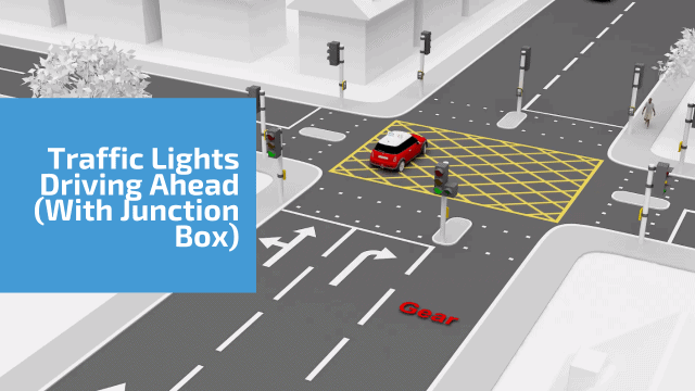 Traffic Lights Driving Ahead  (with a box junction)