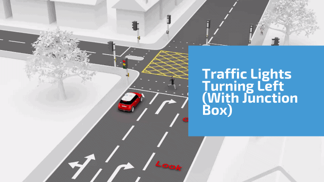 Traffic Lights Turning Left ( with a box junction)