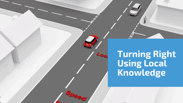 Turning Right Using Local Knowledge